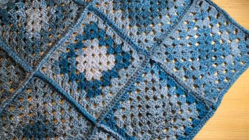 Blue Granny Square baby Afghan
