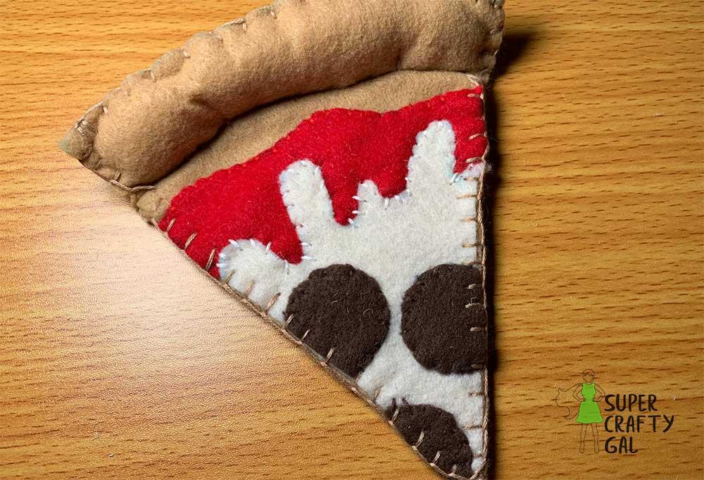 Finished product felt Pizza