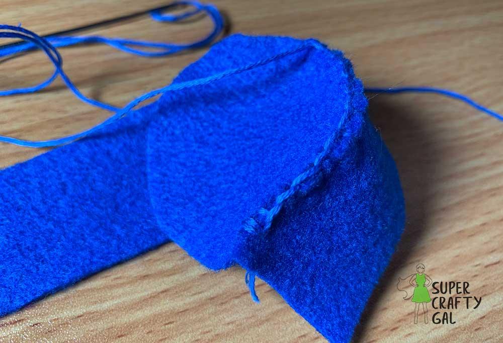 sewing felt cupcake wrapper