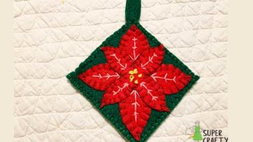 Finished poinsettia Christmas ornament