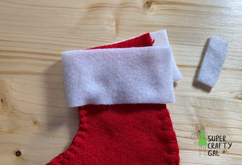 adding the top to the stocking