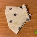 3D Fabric Face Mask with Bumble Bee Printed Fabric